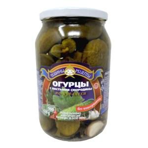 Pickled Cucumbers w/ Currant Leaves Kuban Style, Teshcha's Recipes, 1.9 lb/ 860 g