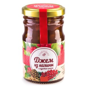 Jam Viburnum w/ Pine Nuts, Sunny Siberia, 220 g/ 0.49 lb
