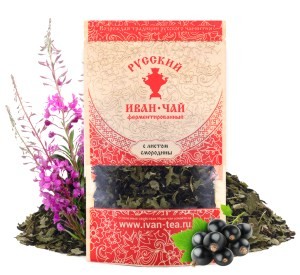 Ivan-Tea Fireweed Black Fermented Small-Leaf w/ Black Currant Leaf, Doypack Zip Lock, 50 g/ 0.11 lb