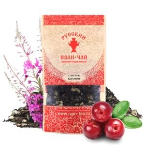 Ivan-Tea Fireweed Black Fermented Small-Leaf w/ Lingonberry Leaf, Doypack Zip Lock, 50 g/ 0.11 lb