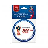 2018 FIFA World Cup Russia Official Emblem Sticker (blue), 86 mm