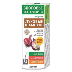 Onion Shampoo Against Hair Loss and Baldness, No Overpayments Health, 250 ml/ 8.45 oz