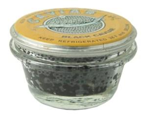 Sturgeon Paddle Fish Black Caviar Malosol in Glass Jar,  100 g