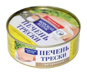 Premium Natural Cod Liver, Seal, 230 g/ 0.51 lb