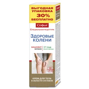 Body Cream Bischofite & 17 Medicinal Herbs, Sofia, 125 ml/ 4.23 oz