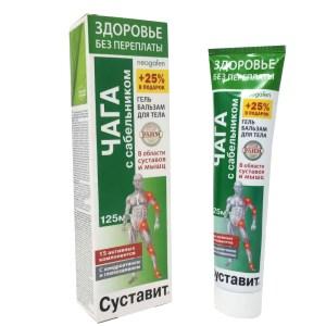 Gel-Balm for Joints and Muscles, Chaga & Cinquefoil, Sustavit, Fora-Farm, 125 ml/ 4.23 oz