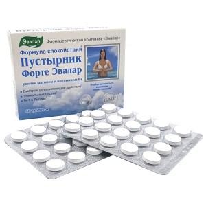 Motherwort Forte (Magnesium+Vitamin 6), Evalar, 40 tablets