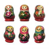 Wooden Nesting Doll Matryoshka Magnet, 1 pc