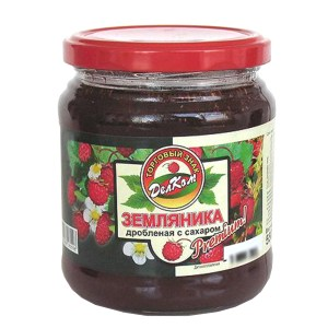 Crushed Wild Stawberry with Sugar, 21.26 oz /600 g