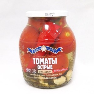 Pickled Spicy Tomatoes, Teshcha's Recipes, 1.98 lb/900 g