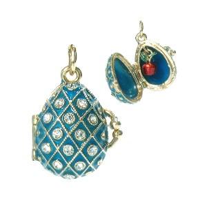 Locket Pendant Mesh Pattern (turquoise), 1