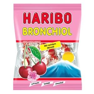 Gummi Candy Haribo Bronchiol Сherry and Menthol, 0.22lb/ 100 g