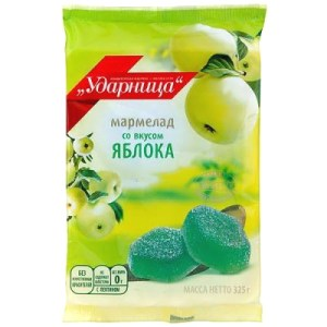Marmalade Udarnitsa with Apple Flavor, 11.46 oz / 325 g