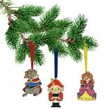 "The Nutcracker Wooden Handmade Christmas Tree Toys Set, 3 x 3.1"" / 8 cm"