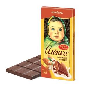 Alenka Milk Chocolate with Almond, 3.52 oz / 100 g