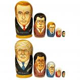 "Trump and Putin Two-Faced Nesting Doll, 5 pcs, 6"" / 15.5 cm"