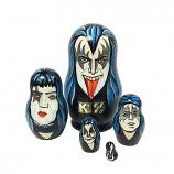 """KISS Exclusive Hand-Painted Nesting Doll, 5 pcs, 3.5"""""""