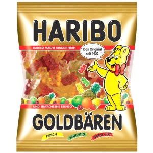 Gummy Candy Gold Bears, Haribo, 100g / 0.22 lb