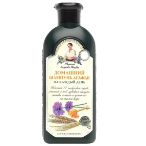 Shampoo for Dialy Use for All Hair Types w/Onion Peel, Hops Extract & Propolis, Recipes of Grandmother Agafya, 11.83 oz/ 350 Ml