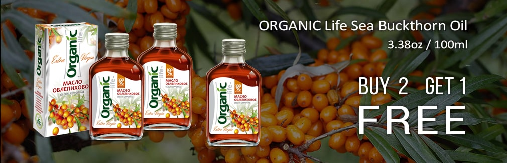 ORGANIC Life Sea Buckthorn Oil, 3.38oz / 100ml Produced by Specialist, Altai Buy 2 and Get 3