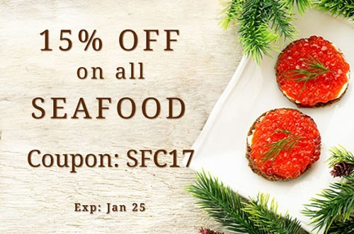 Seafood coupon SFC17 15% OFF