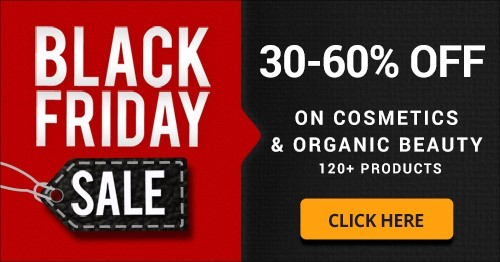 SAVE 30-60% on Organic Beauty & Cosmetics with Black Friday