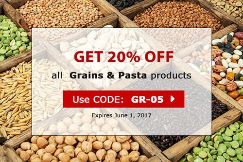 Grains and Pasta coupon GR-05 20% OFF